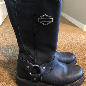 Harley Davidsons black high top boots